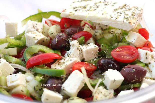Per cena.....insalata greca!