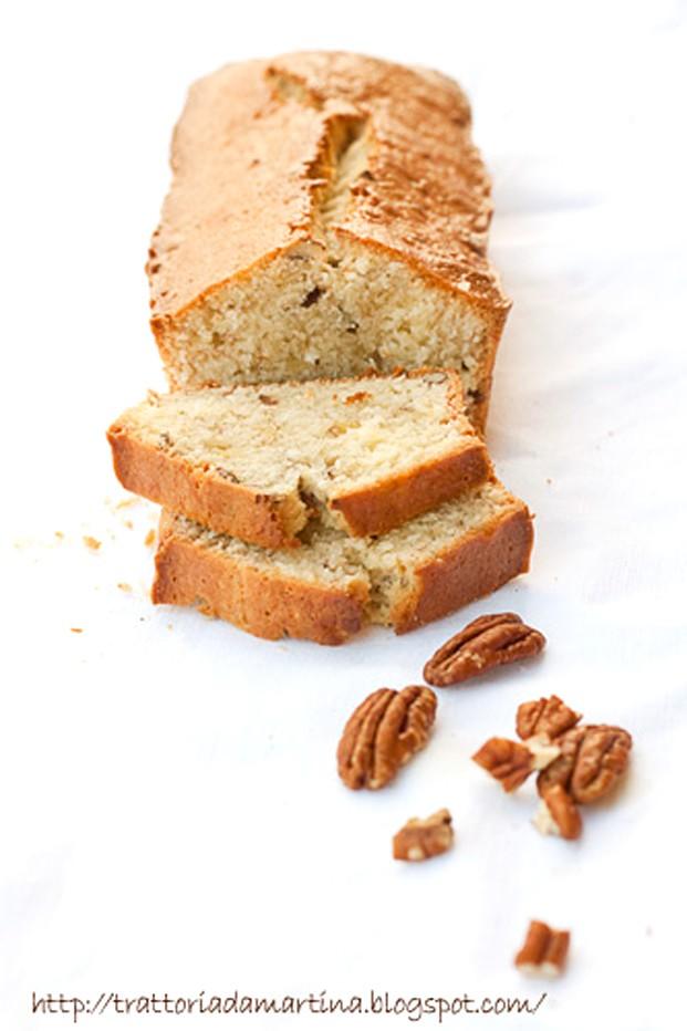 Banana bread o banana-nut bread: plumcake alla banana con noci pecan