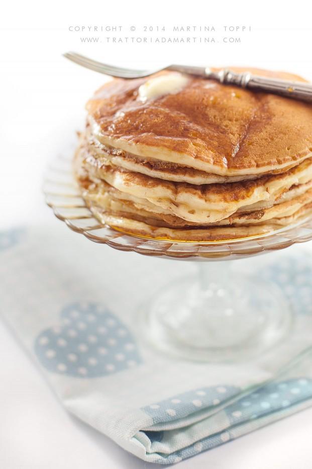 Pancake allo sciroppo d'acero (con latticello)!