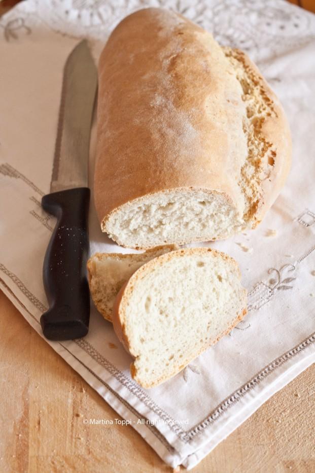 Il pane toscano con 1 briciola di lievito