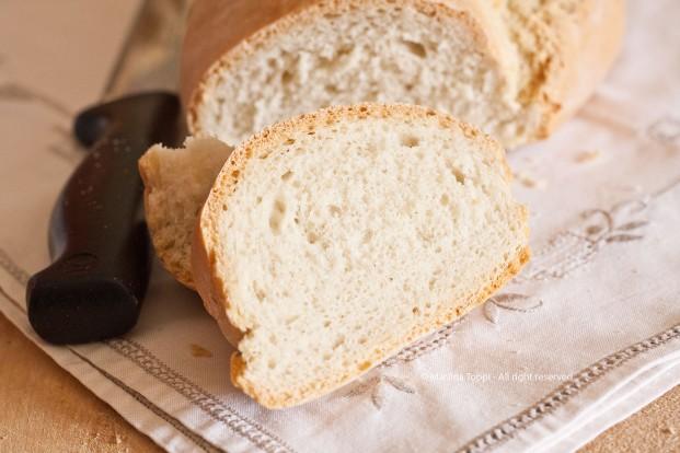 Fetta di pane toscano
