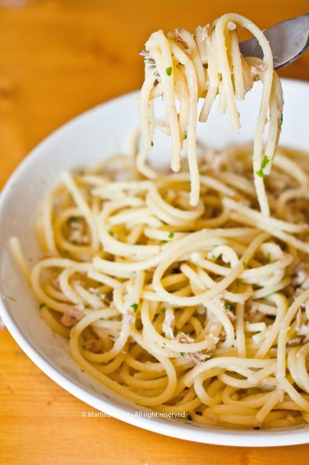 Spaghetti al tonno...la mia versione