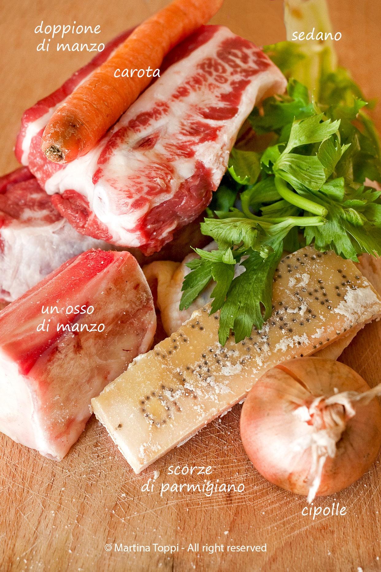 Ingredienti brodo di manzo