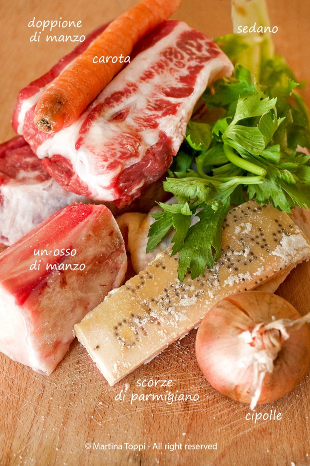 Ingredienti brodo di carne