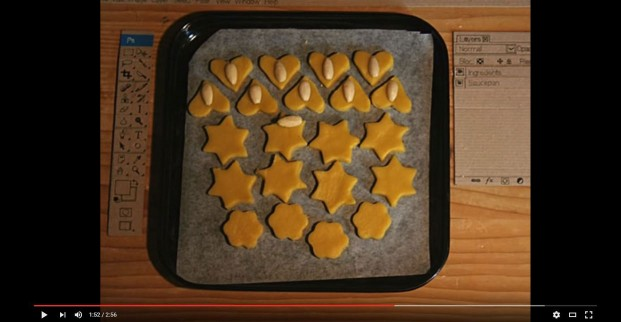 Biscotti fatti con photoshop: un video da non perdere