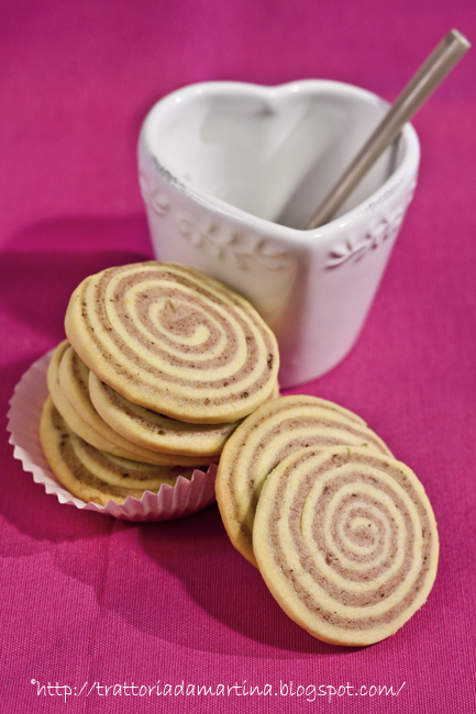 biscotti girelle al lampone