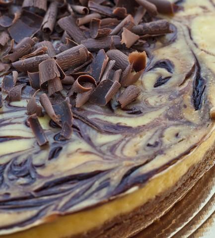 Cheesecake variegato al cioccolato