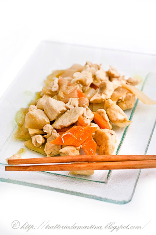 Pollo al bambù