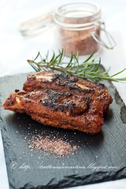 Classic BBQ rub ovvero mix di spezie per barbeque e costine di maiale