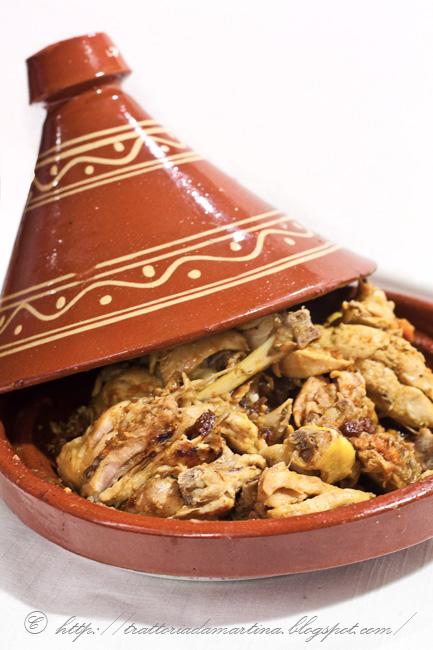 Tajine di pollo al curry Madras e limoni confit