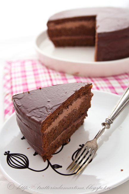 Torta cioccolato dentro e fuori per Mauro malaticcio