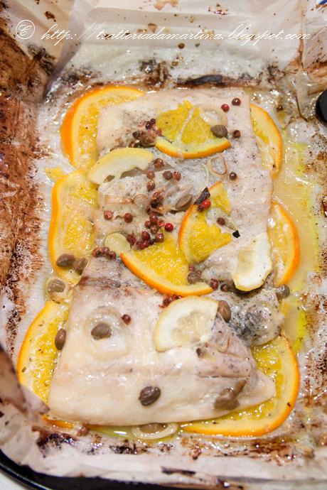 Cartoccio di filetti di persico agli agrumi