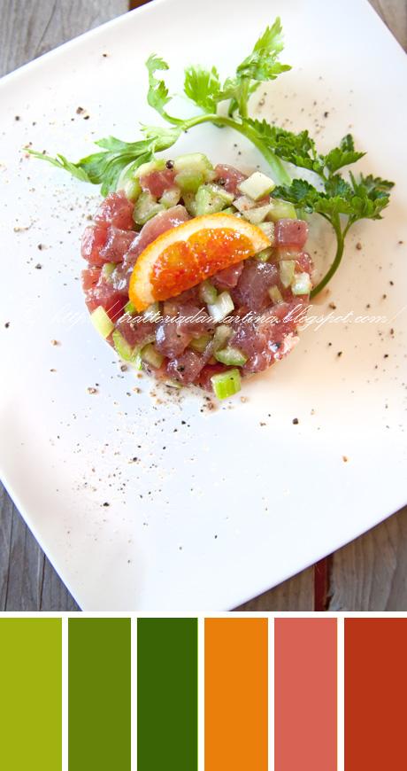 Tartare di tonno con sedano e agrumi