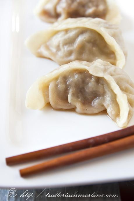 Ravioli di carne cinesi al vapore