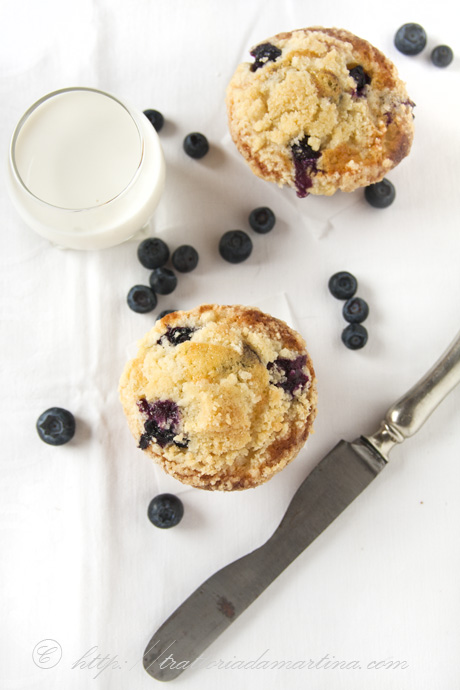 Blueberry crumble muffin di Yotam Ottolenghi