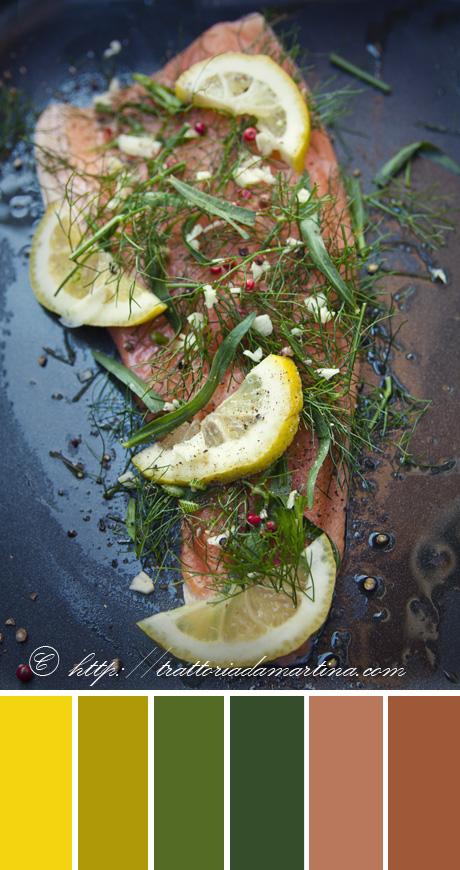 Filetto di trota salmonata alle erbe aromatiche e sale grigio di Bretagna & un week end a CasalCoppo