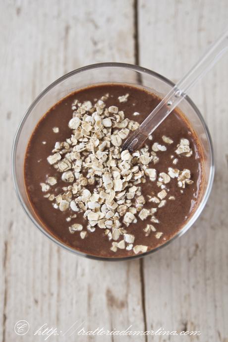 Chiocolate smoothie o frappè al cioccolato