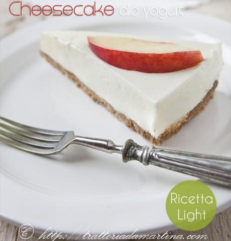cheesecake fredda allo yogurt