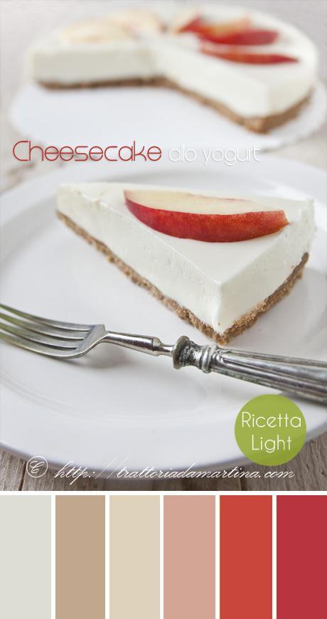 Cheesecake fredda allo yogurt: light, senza uova e senza cottura!