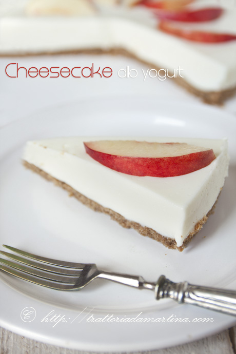 Cheesecake allo yogurt light e senza cottura