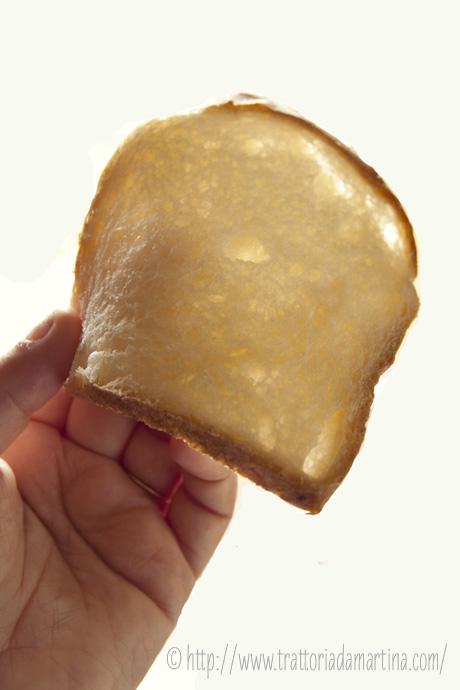 pancarrè al formaggio spalmabile: la fetta