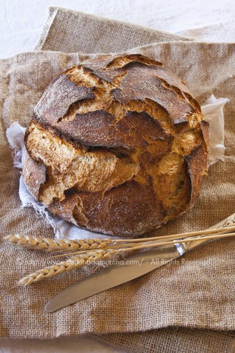 No-knead bread integrale
