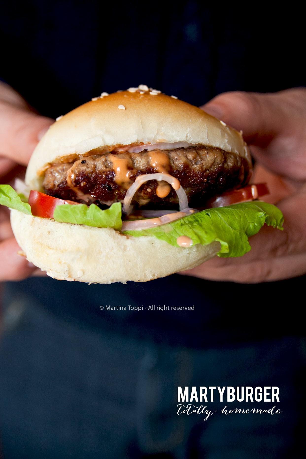 Hamburger completamente fatto in casa