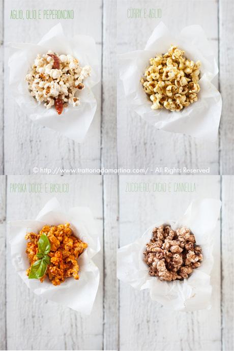 Popcorn aromatizzati: 4 diverse soluzioni