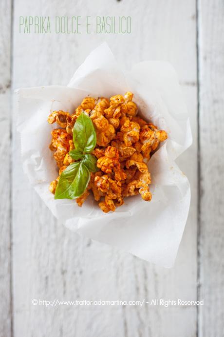 Pop corn alla paprika dolce e basilico