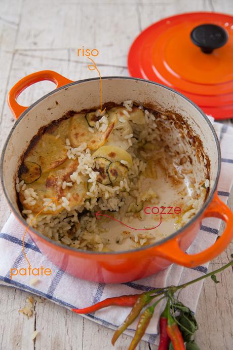 Tiella riso patate e cozze