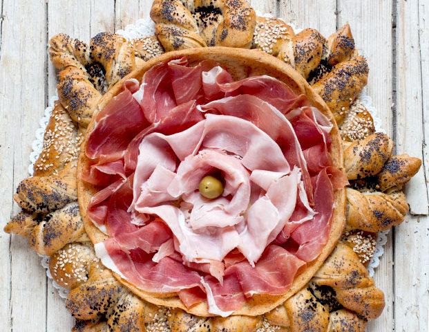 centrotavola di pane turco