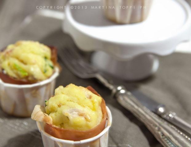 mini muffin salati speck e zucchine