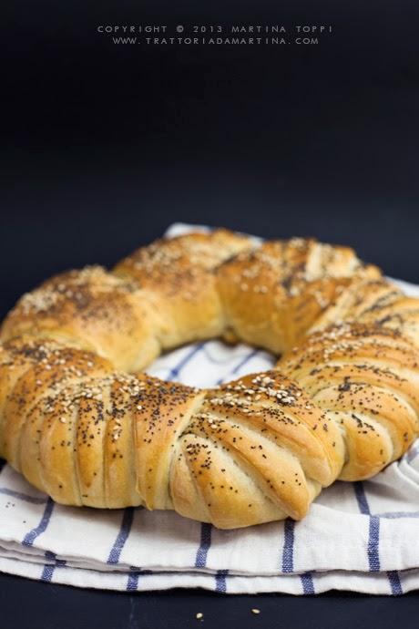 Corona di pane all'olio