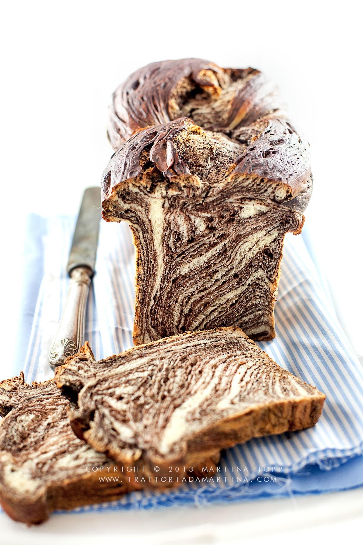 Brioche variegata al cioccolato