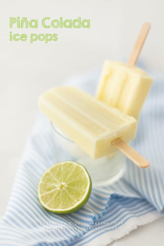 Piña colada ice pops: gli apero-ghiaccioli per l'estate.