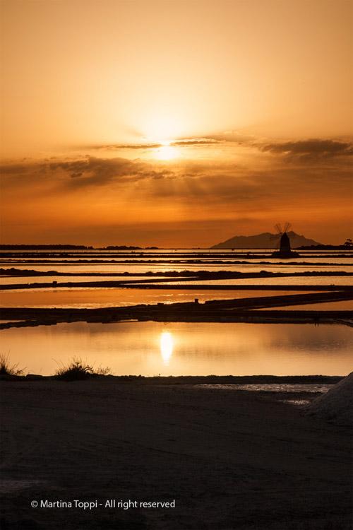 Saline al tramonto