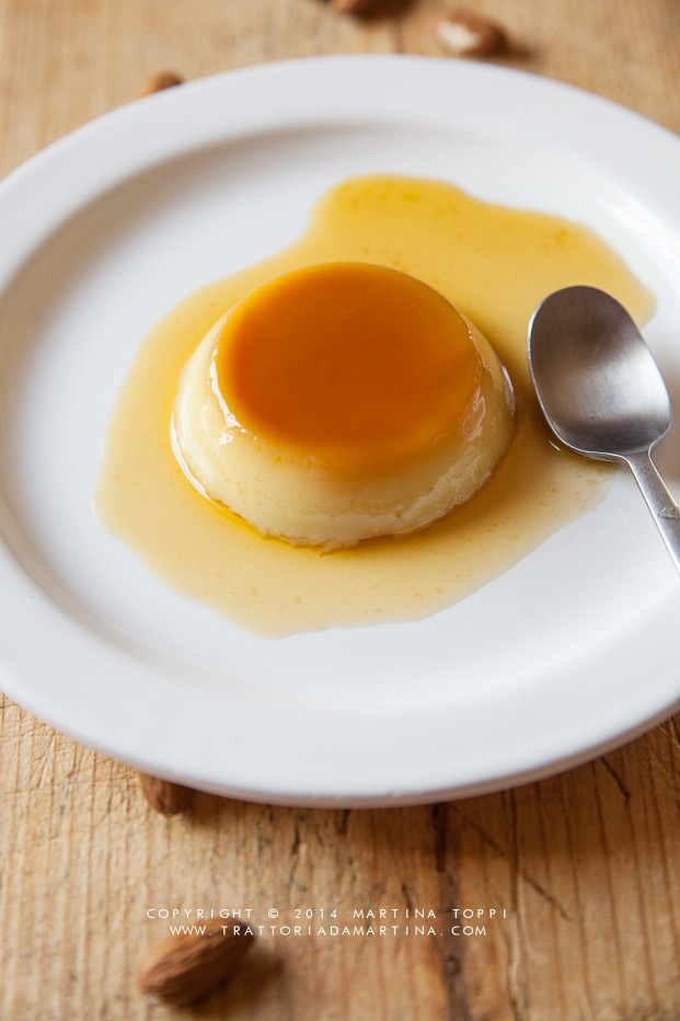 Crème caramel al latte di mandorla