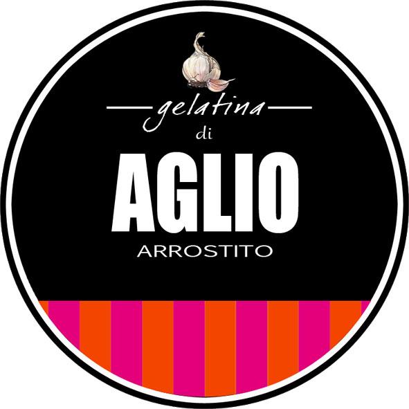 Etichetta gelatina di aglio arrostito