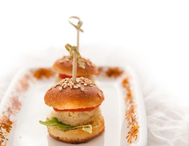 Mini burger di pollo finger food