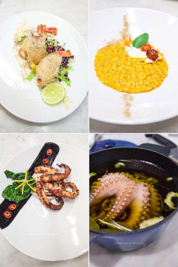 Collage piatti preparati da me al Campus Etoile Academy