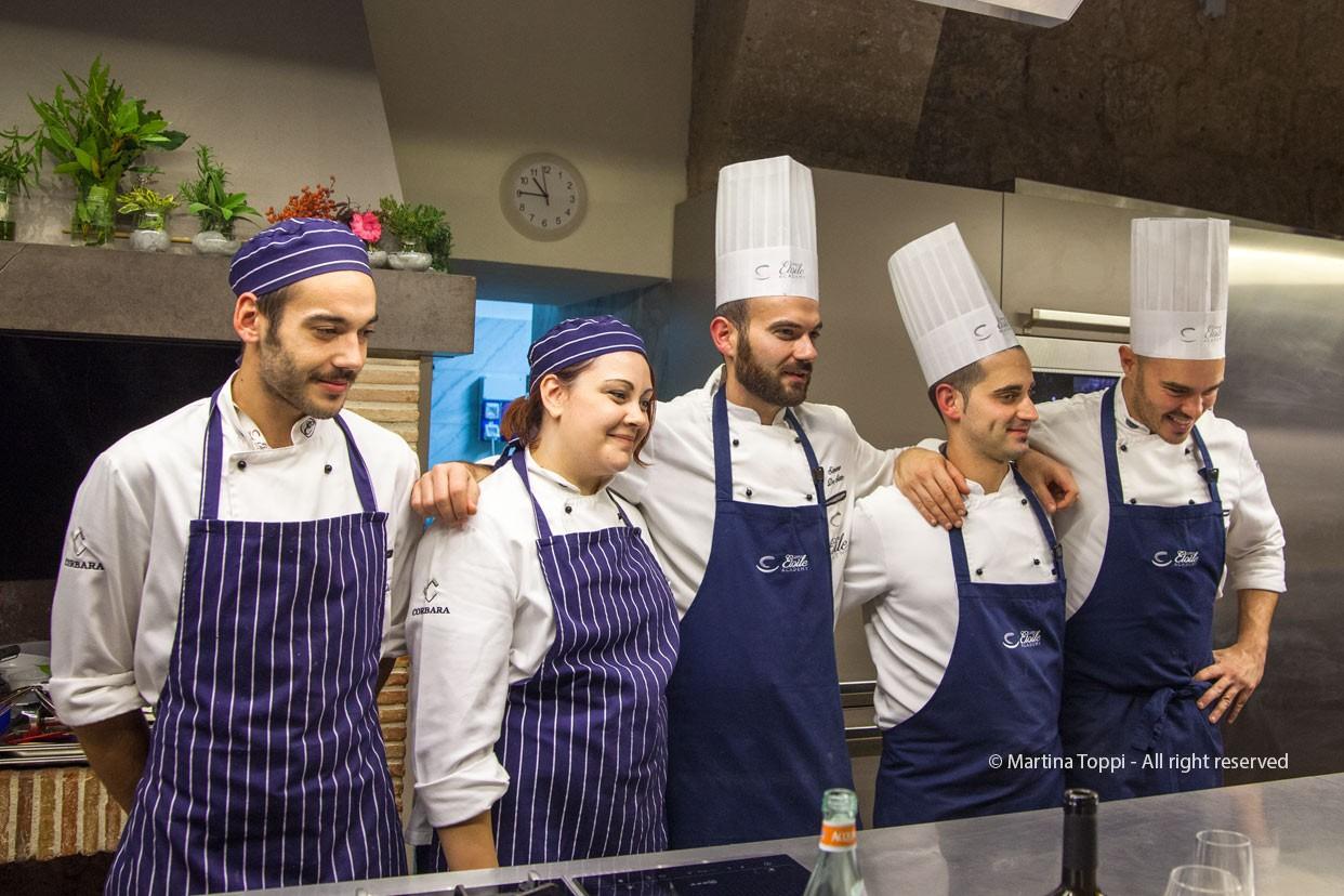 Gli chefg del Campus Etoile Academy e i loro assistenti