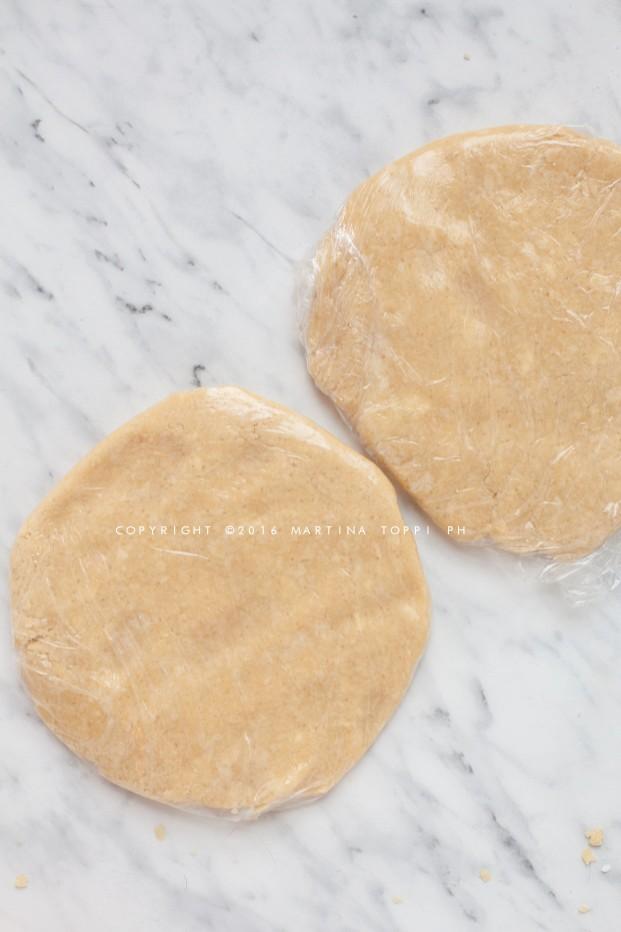 apple pie: guscio esterno di pasta brisè