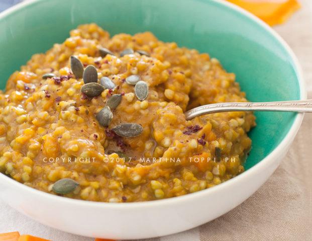 Risotto di grano saraceno alla zucca
