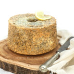 chiffon cake lemon and poppy seeds