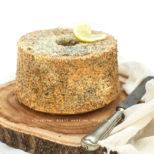 chiffon cake lemon and poppy seeds