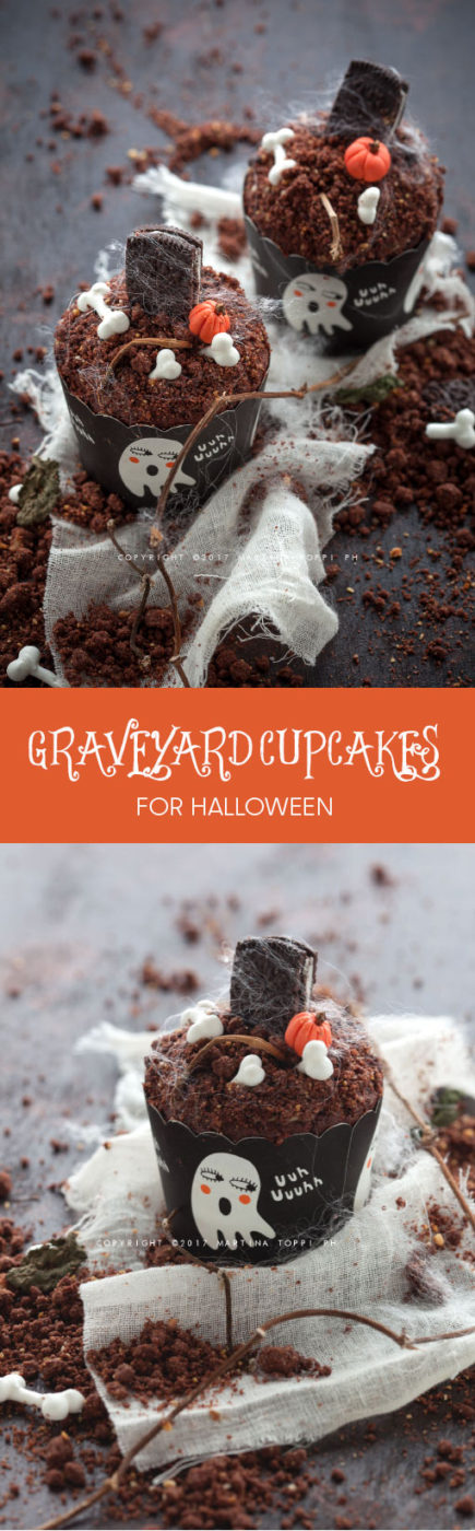 cupcake di halloween - graveyard cupcakes