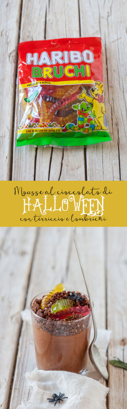 Mousse al cioccolato di Halloween