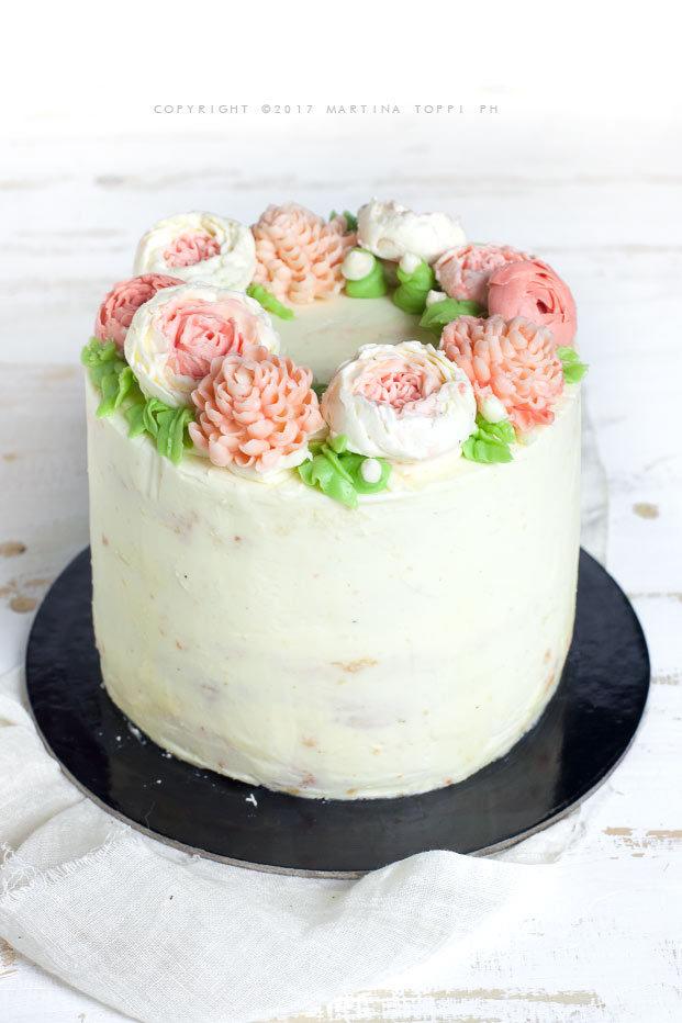 torta fiorita con crema al mascarpone