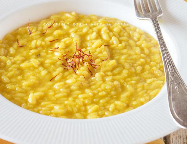 risotto alla milanese -risotto allo zafferano