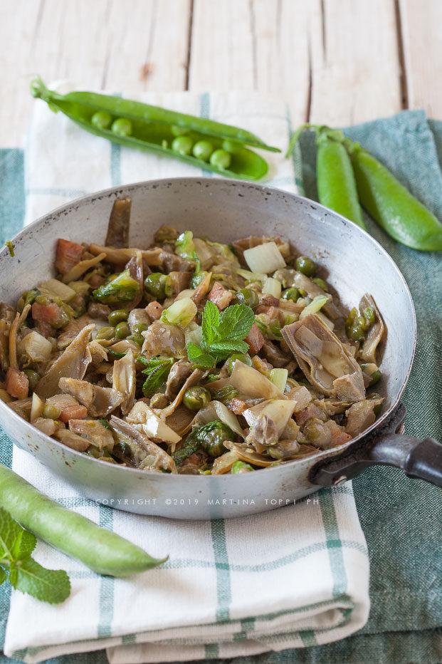 Vignarola o vognarola romana un piatto tipico della for Piatto tipico romano